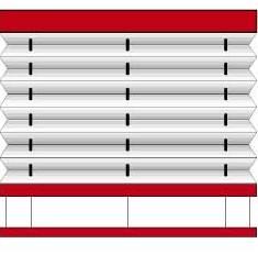 Plissee-Plafond
